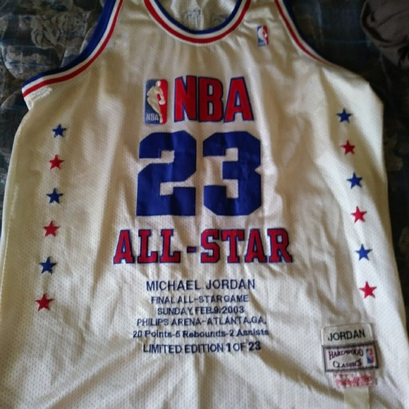 online store 1c7dd 3741e Rare Michael Jordan Final All-Star Jersey
